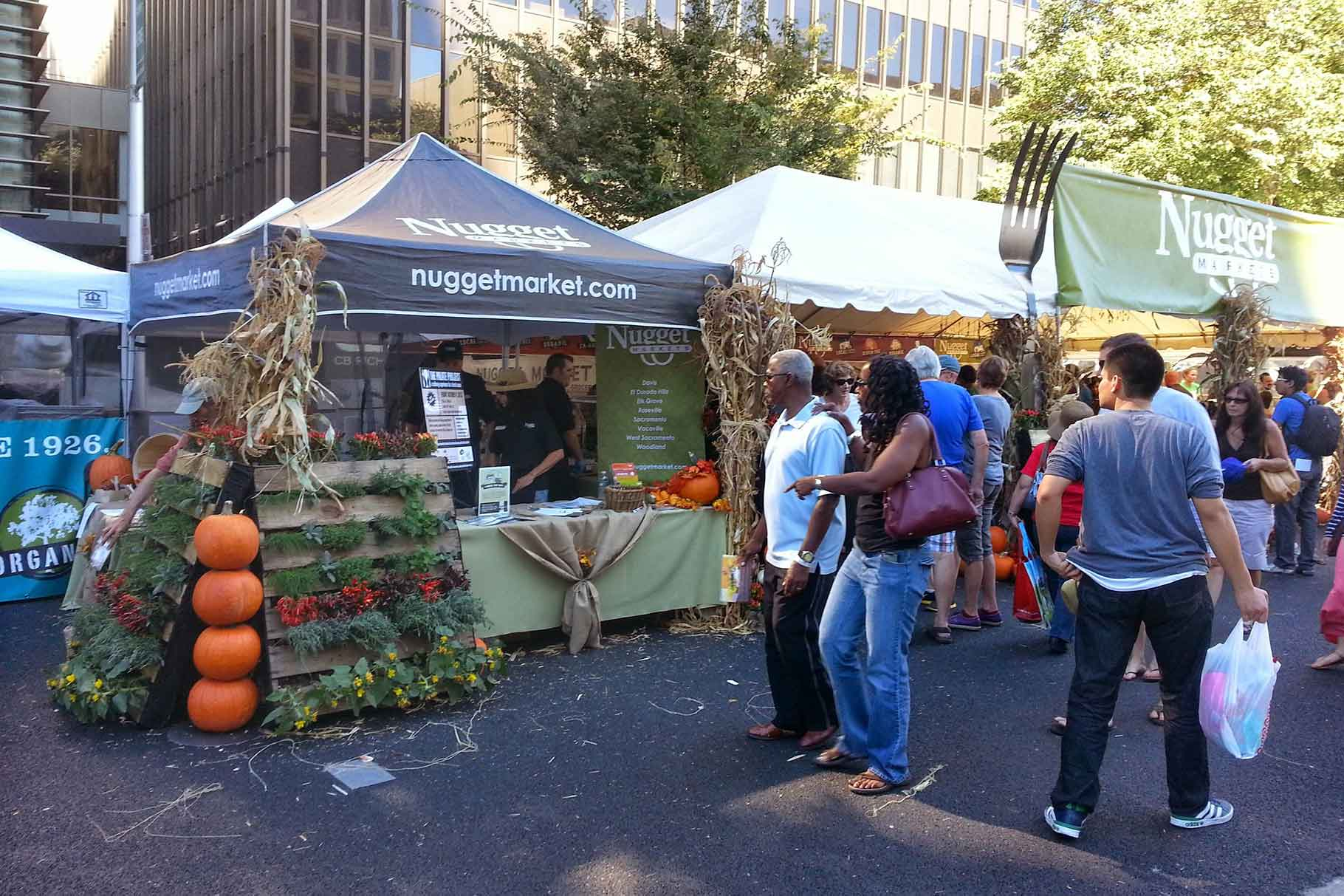 Nugget Markets Farm to Fork Booth 2015.