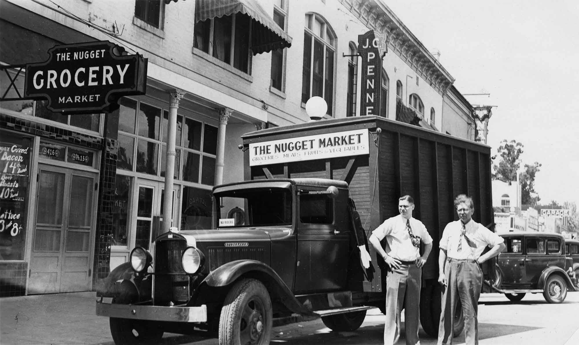Nugget Markets Mack and William Stille circa 1926
