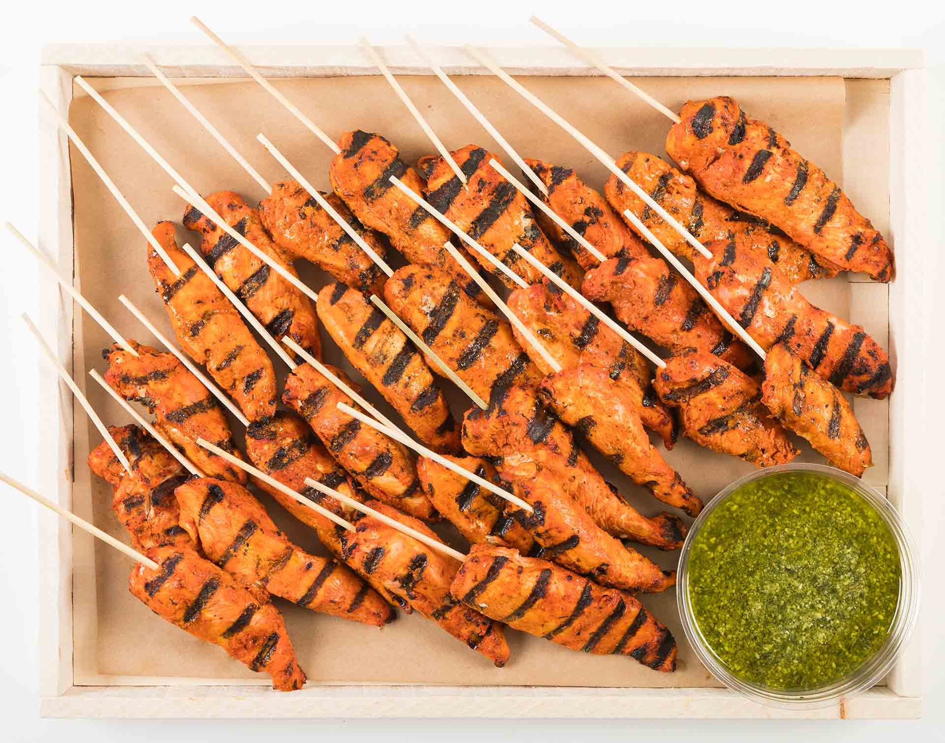 Achiote Chicken Skewer Platter