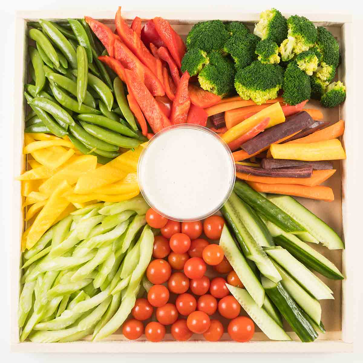 Gourmet to go party platters from nugget markets fresh vegetable crudit platter thecheapjerseys Choice Image