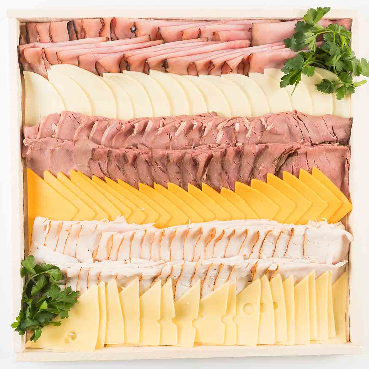 meat and cheese platter gourmet to go platters from nugget markets 12243