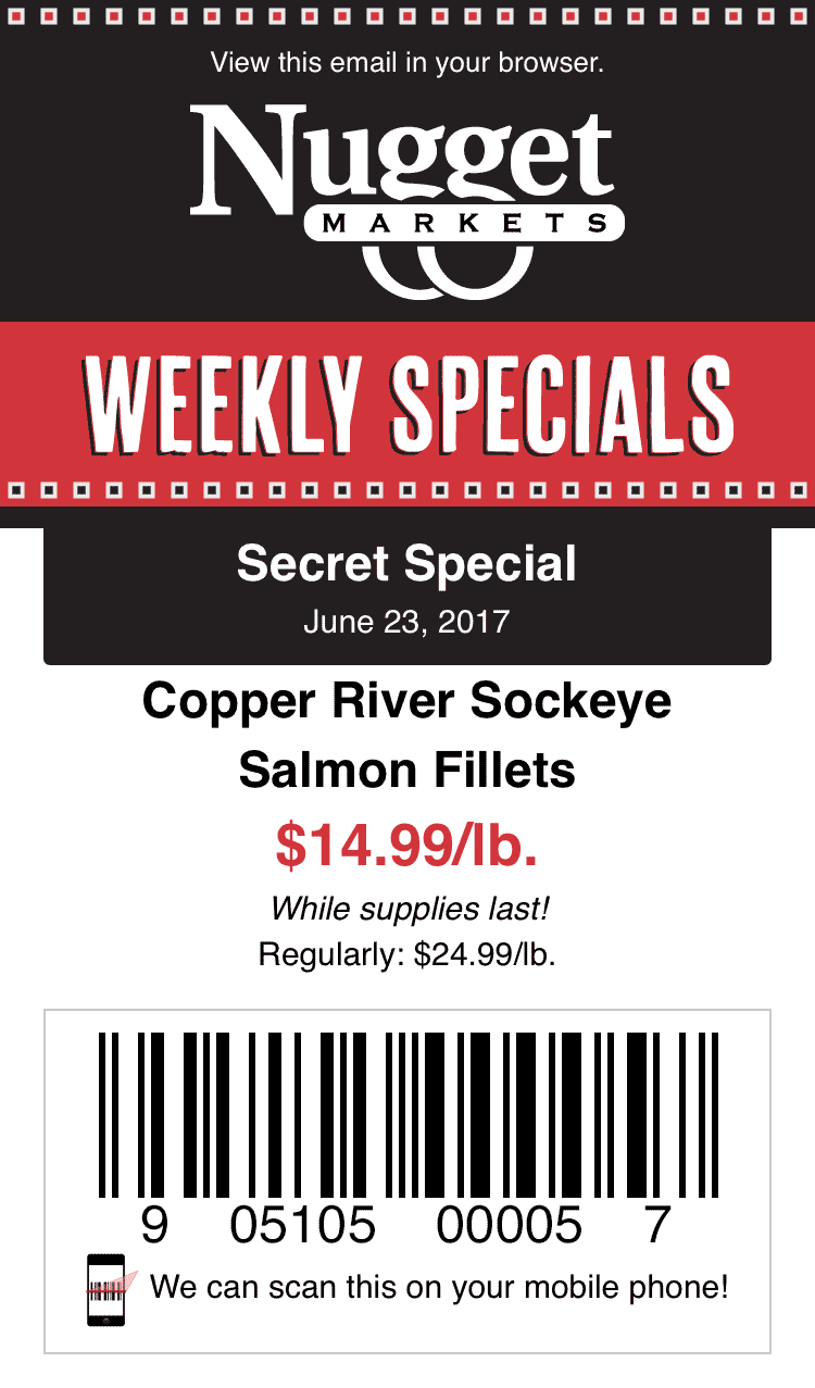 Secret Special coupon on a smart phone.
