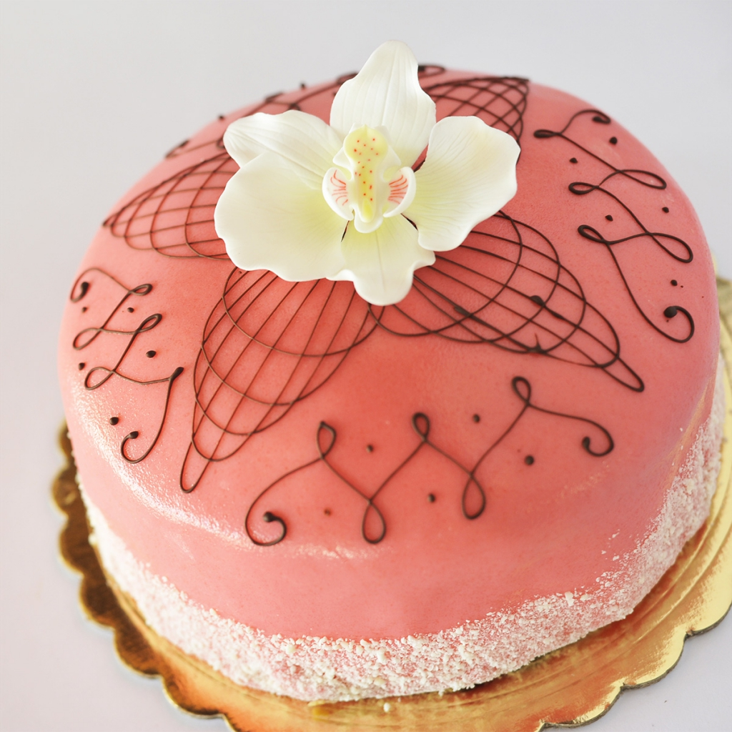 Ettore Princess Torte, available in pink, lime green and almond