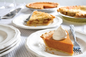 Pumpkin and Apple Pies