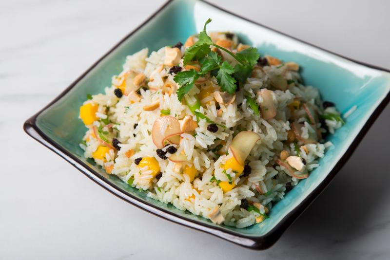 Rice Salad with Rhubarb & Mango