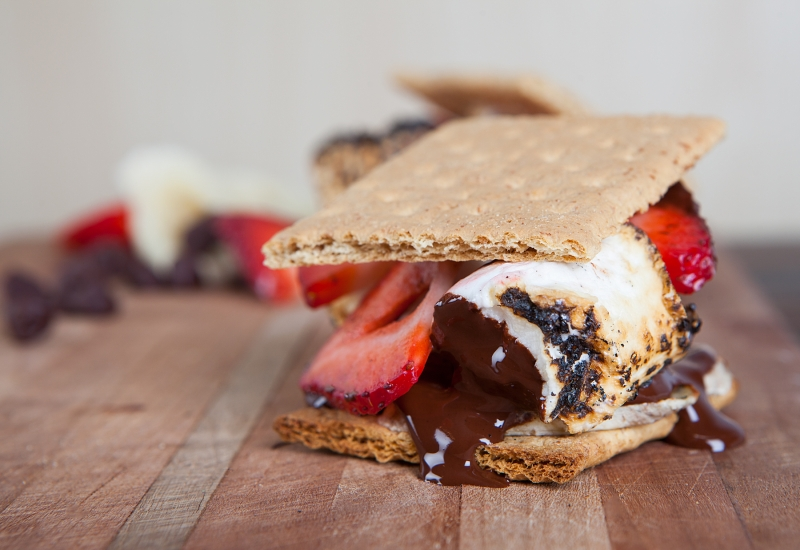 smores with fruit