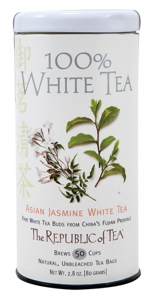 100% White Tea Also known as China white, this rare tea is delicate with mellow, sweet notes. Try Asian Jasmine White Tea.