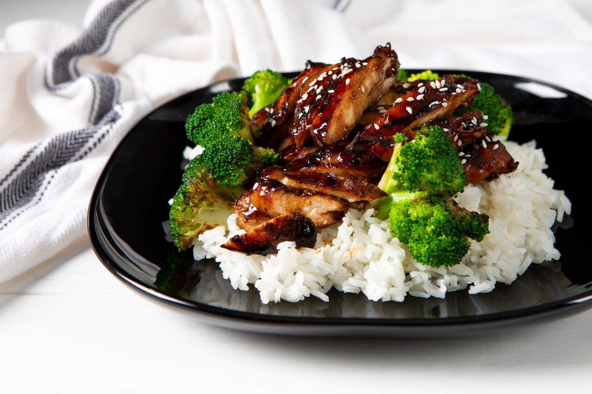 chicken teriyaki on a plate