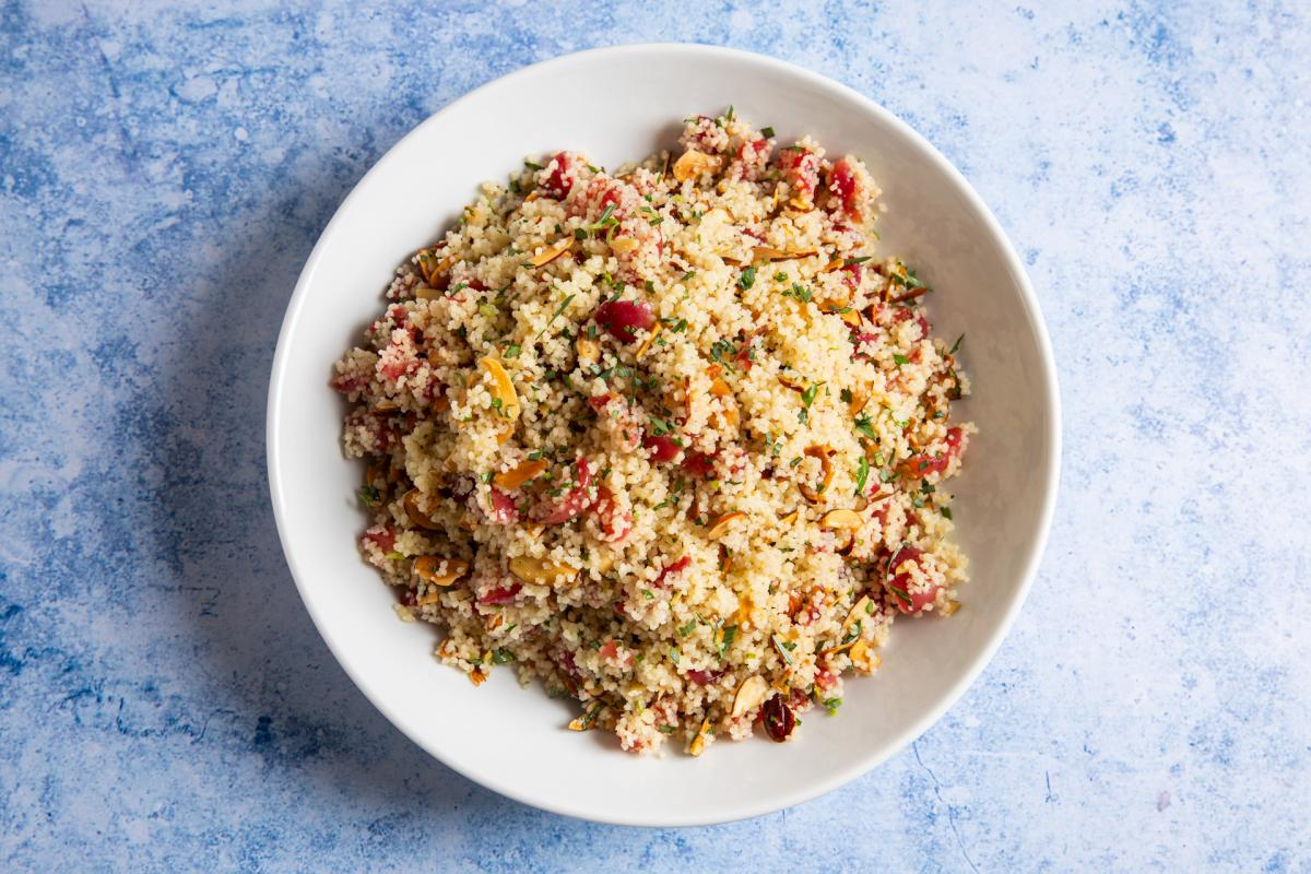 Couscous Salad with Pickled Cherries