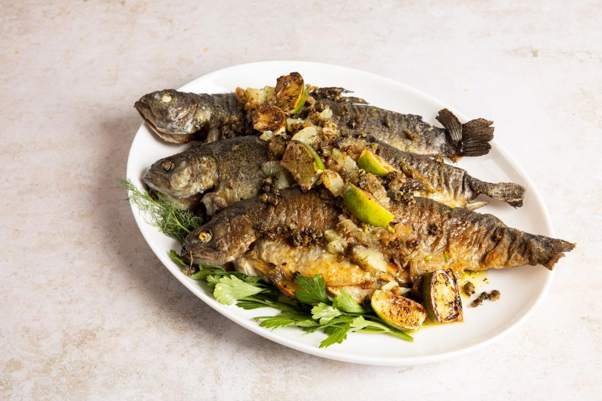 Pan-Roasted Butterflied Trout with Lime & Dill