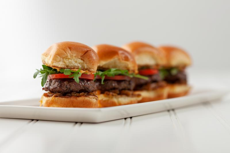 lamb sliders on a plate