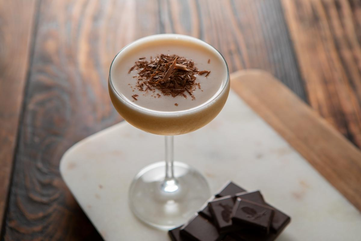 chocolate cocktail with chocolate pieces