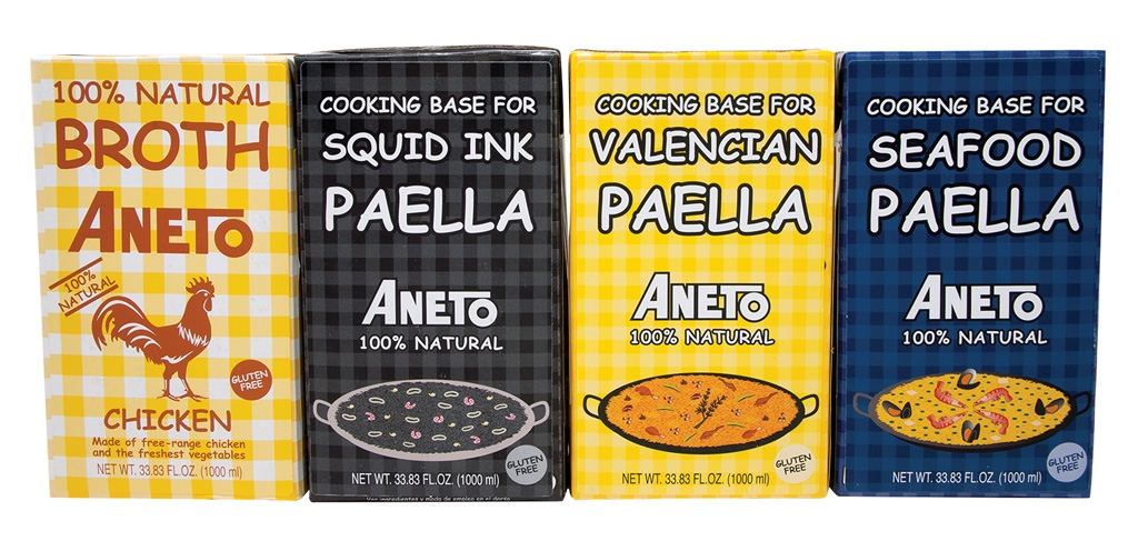 Aneto's 100% natural cooking bases