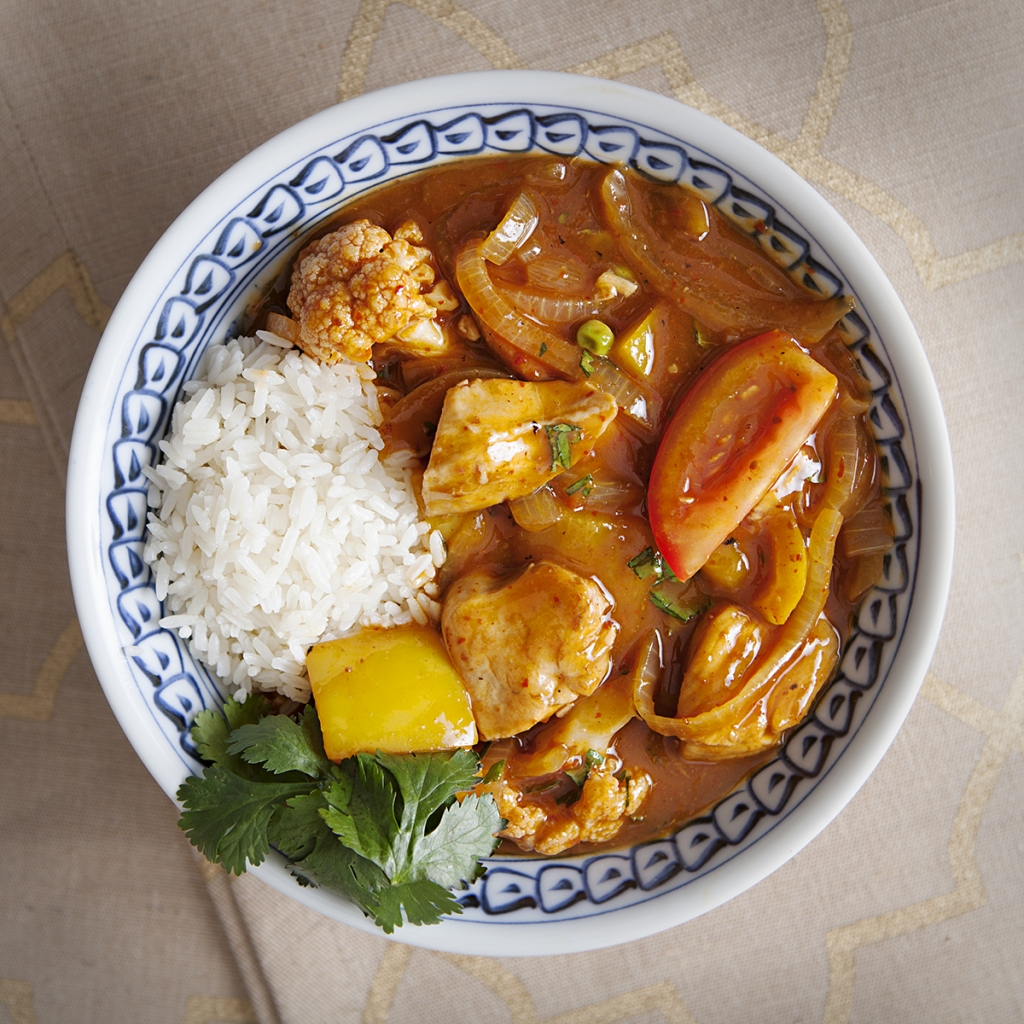 Chicken Breast Red Curry with Basmati Rice