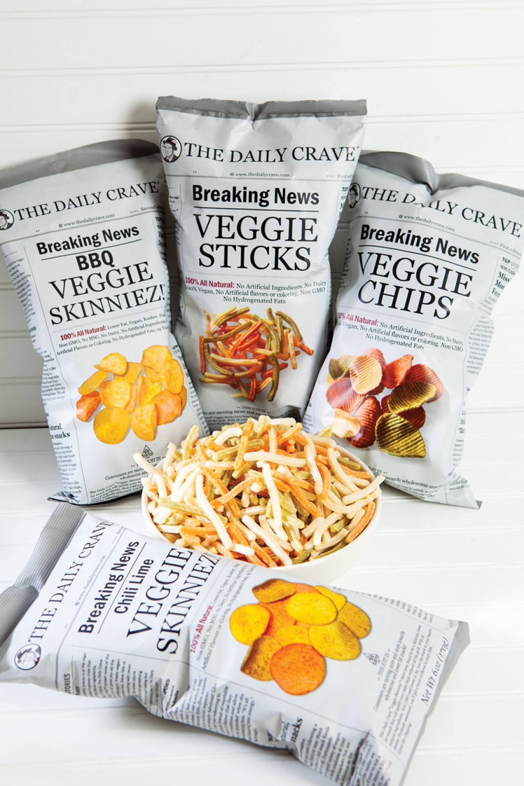 Veggie Chips, Veggie Sticks and Skinniez