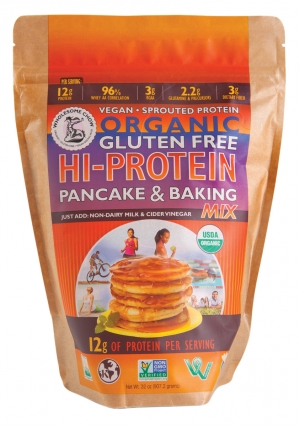 Wholesome Chow's Organic Hi-Protein pancake and baking mix