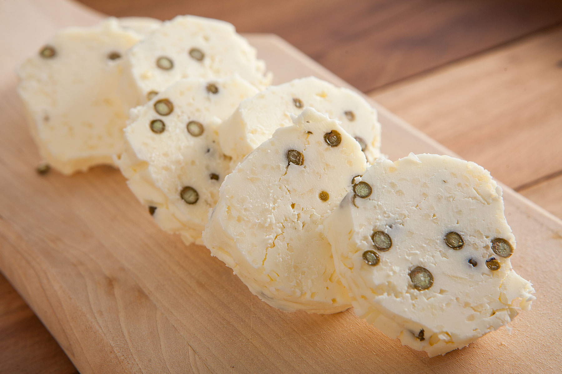 Parmesan Green Peppercorn Compound Butter