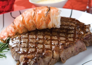 New York Strip Steaks & Wild Caught Lobster Tails