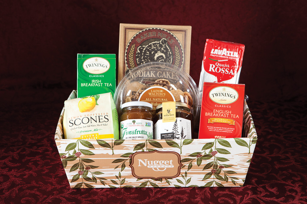 Breakfast Gift Basket  Our Breakfast Basket includes a lovely set of coffee, tea, scone mix, jam and honey.