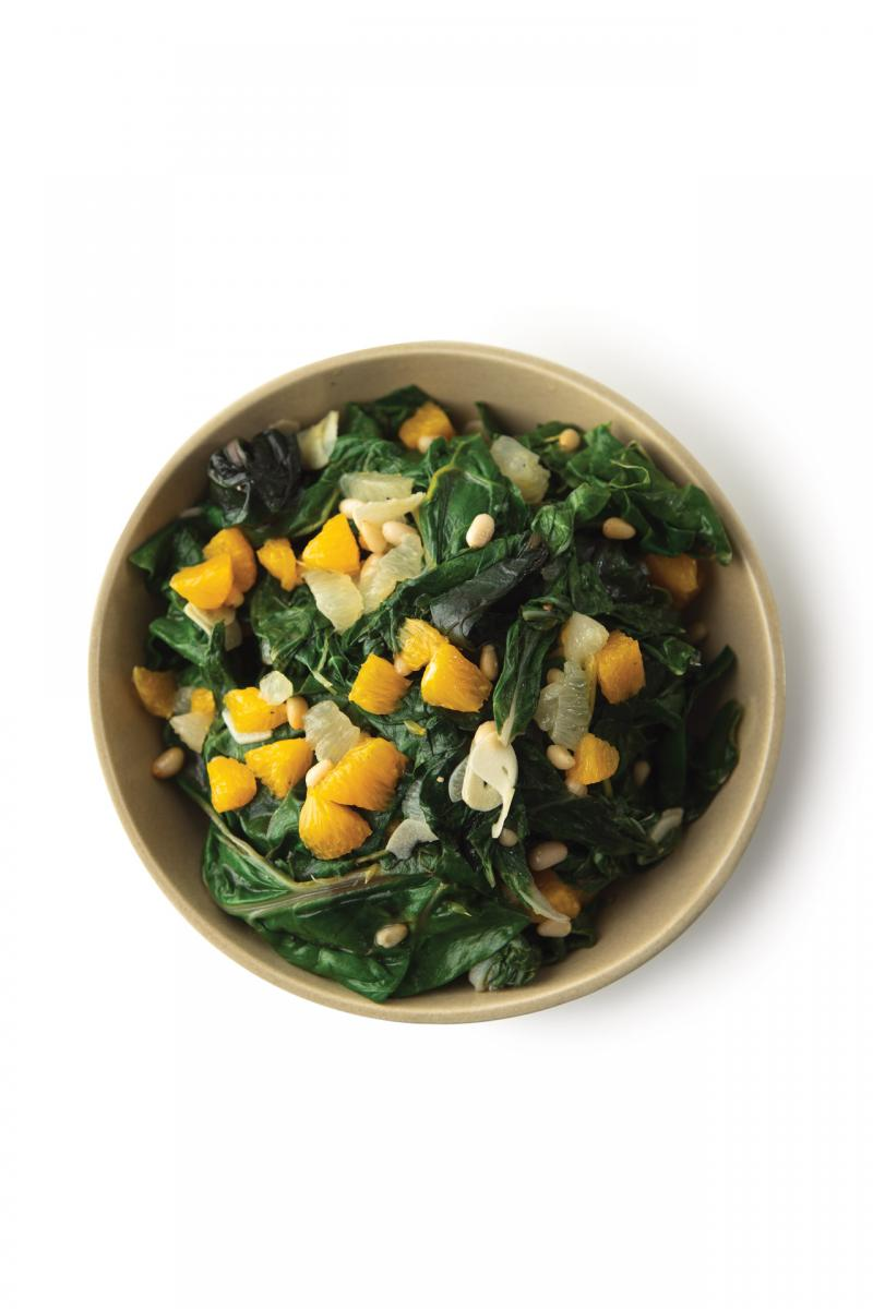 Sautéed Chard with Citrus and Pine Nuts