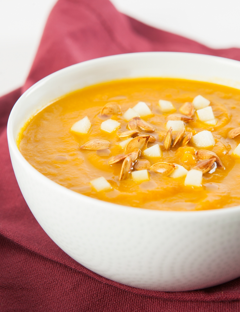 Curried Apple and Carrot Soup