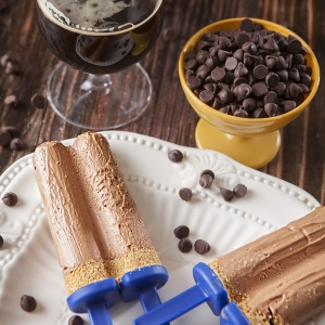 Dark Chocolate Cheesecake Stout Pops
