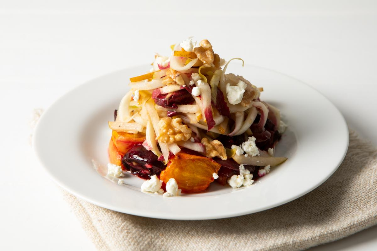 Roasted-Beet-Pear-Goat-Cheese-Salad