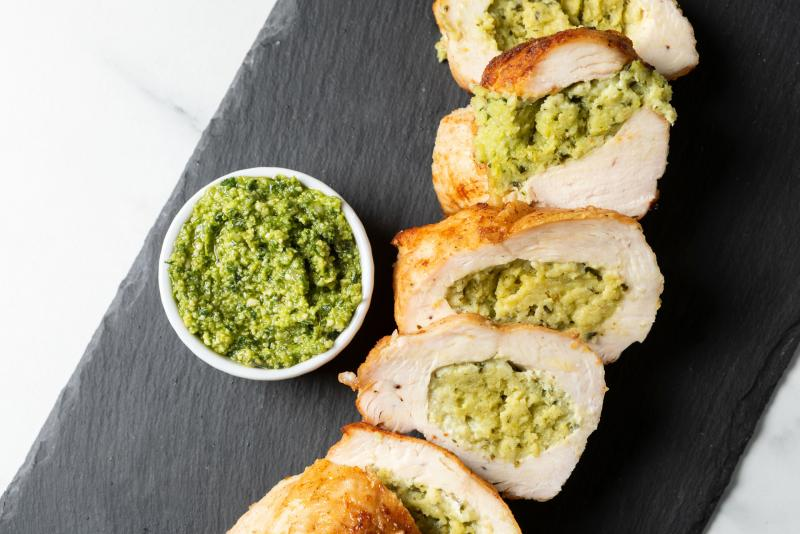 Basil & Ricotta-Stuffed Chicken Breast