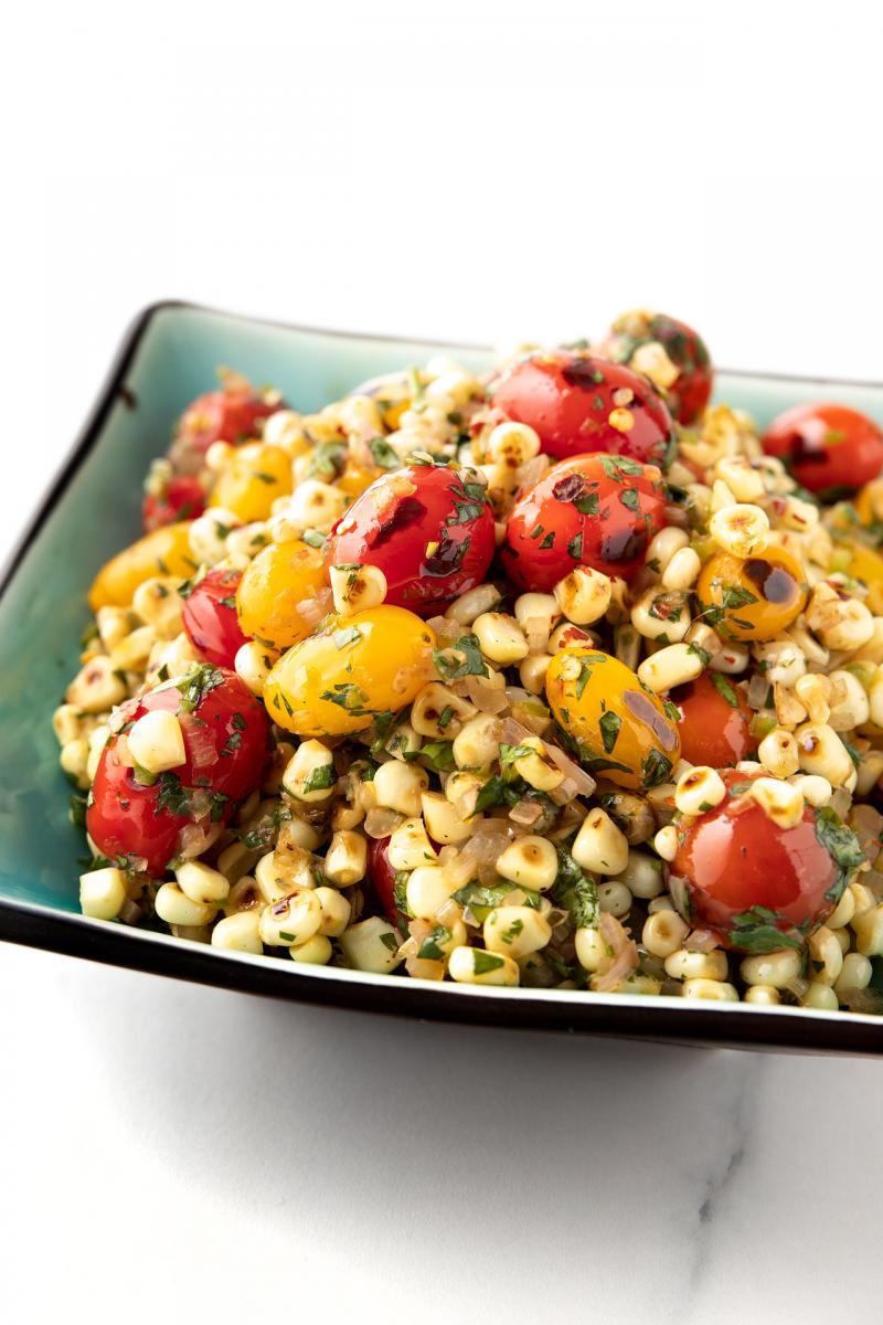 blistered tomato and corn relish