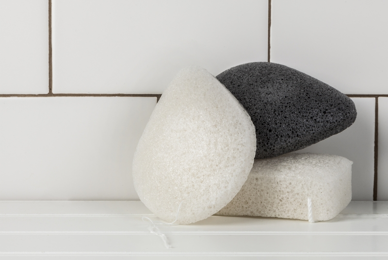 Three konjac sponges