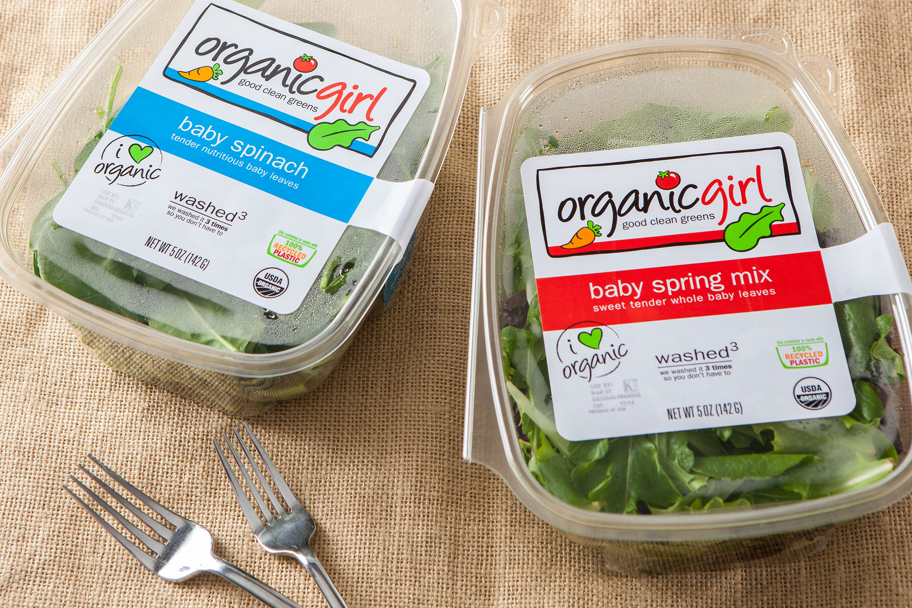 Organic Girl baby spinach and spring mix