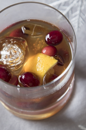 Cranberry Ginger Old Fashioned
