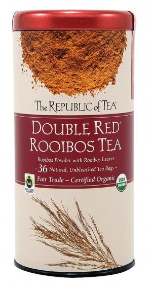 "Rooibos Pronounced ""ROY–boss"" and often referred to as African redbush tea, rooibos contains polyphenols, flavonoids and is caffeine–free. Try Double Red Rooibos tea for a treat."