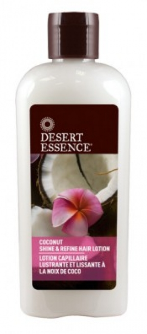 Desert Essence's Coconut Shine & Refine Hair Lotion
