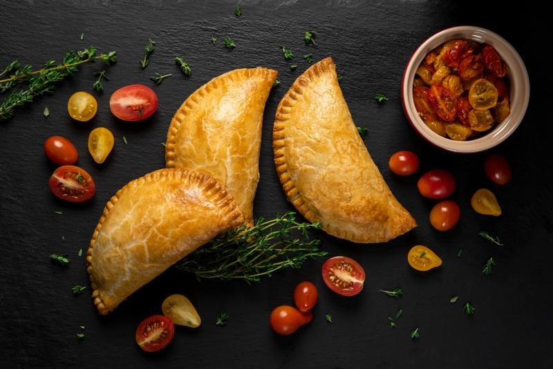 tomato and caramelized hand pies