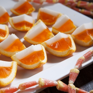 Candy Corn Jell-O Shots