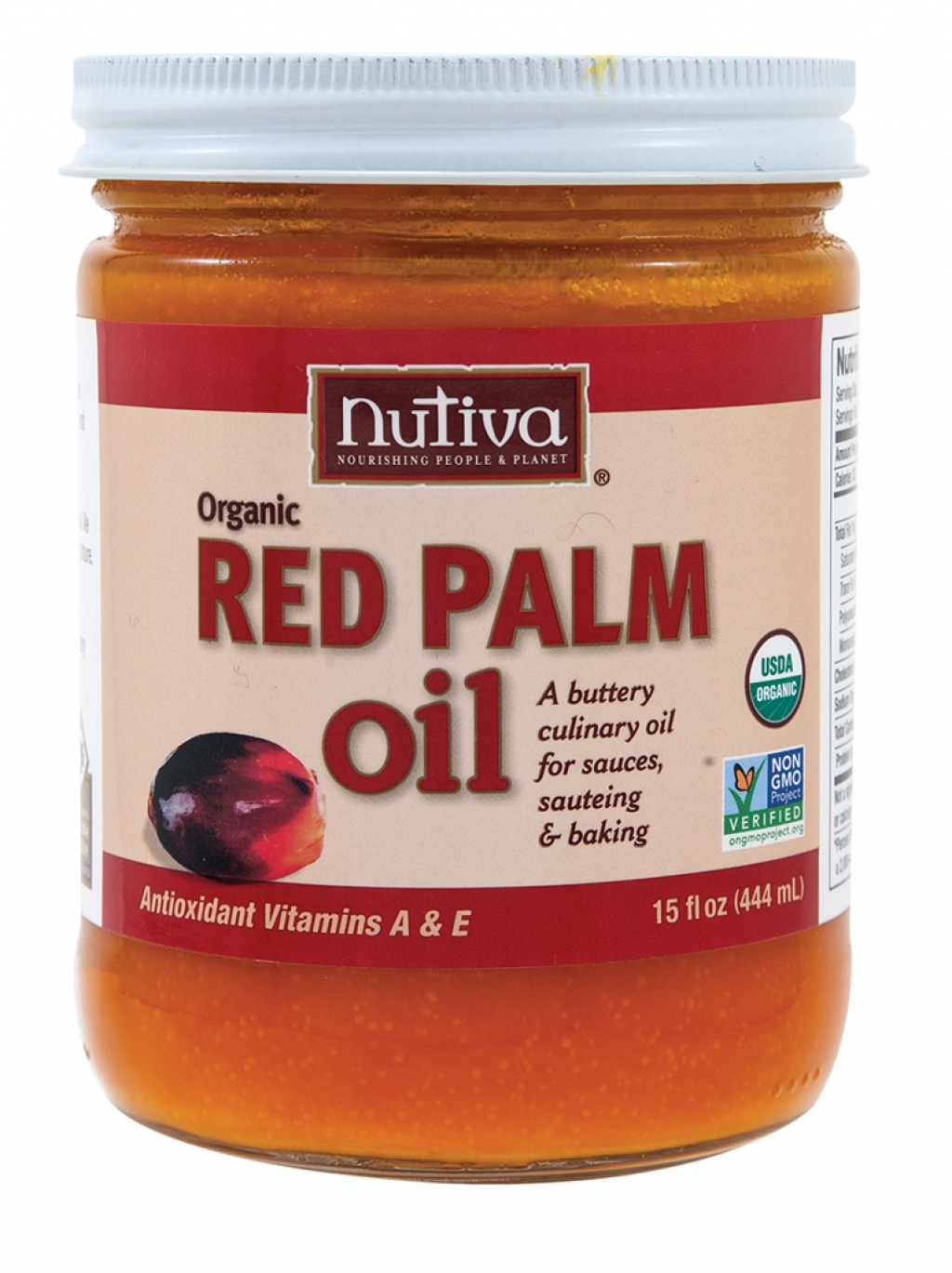Use this: Red Palm oil  For that: Butter or cooking oil