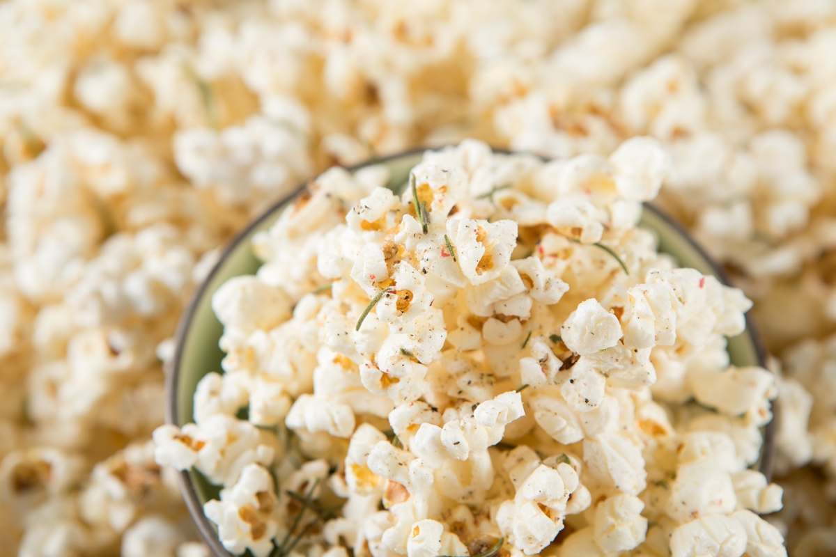 duck fat popcorn in scoop