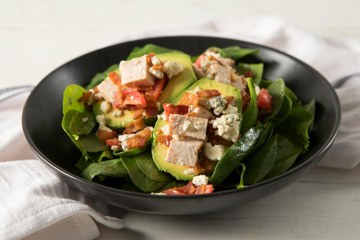 Cobb-Salad-Stuffed-Avocado