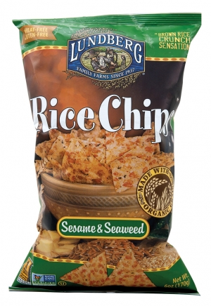 Lundberg's Rice Chips with Sesame & Seaweed