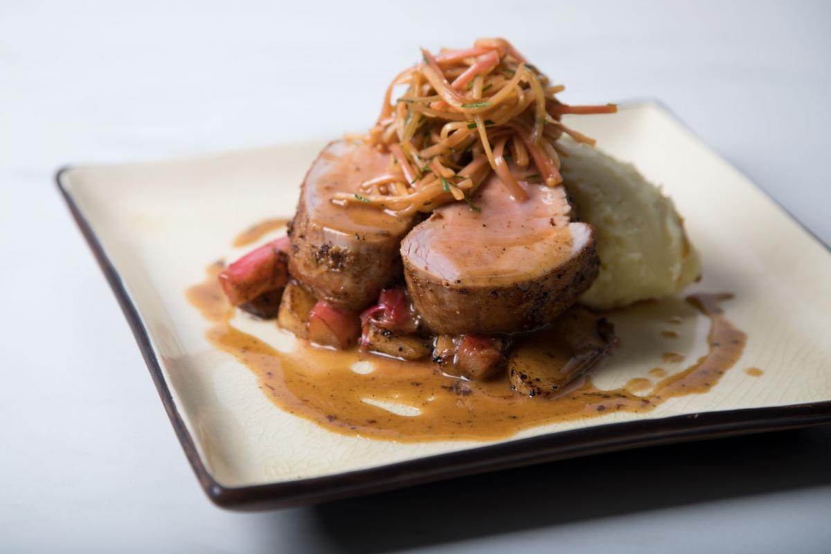 Pork Tenderloin with Roasted & Pickled Rhubarb