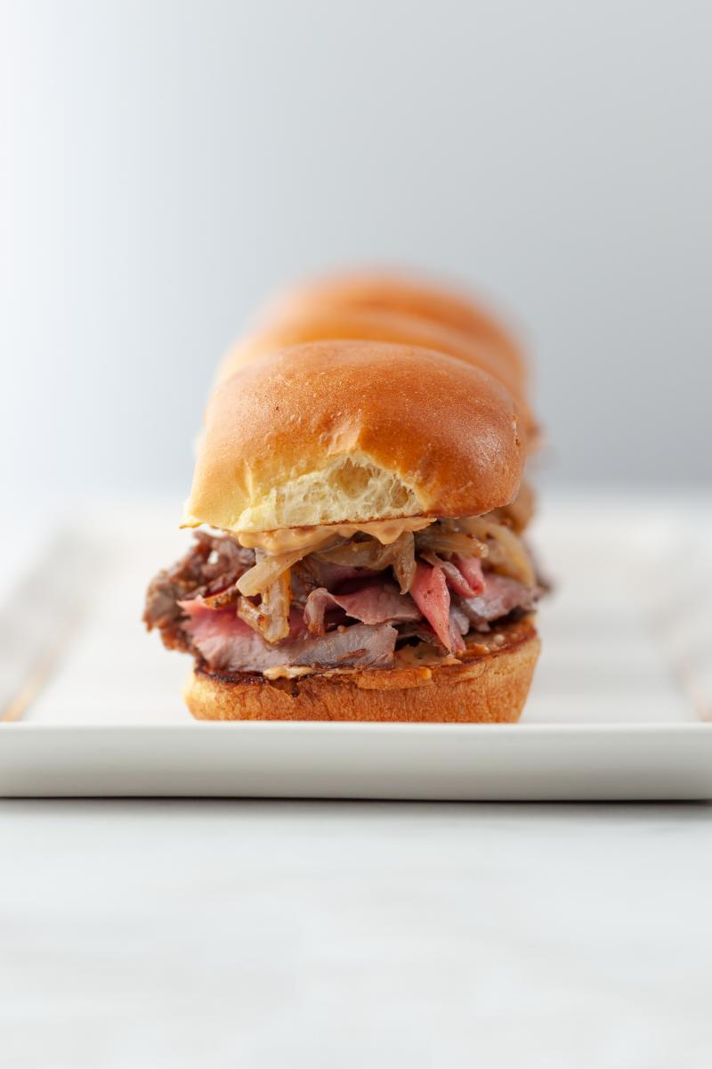 Steak Sliders with Caramelized Onion Relish
