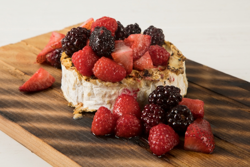 brie and berries
