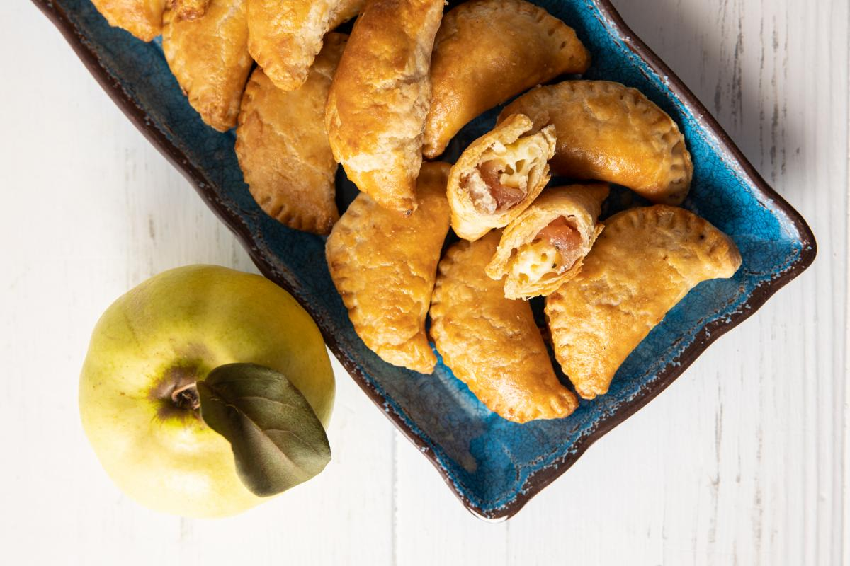 quince and brie empanadas with a quince fruit