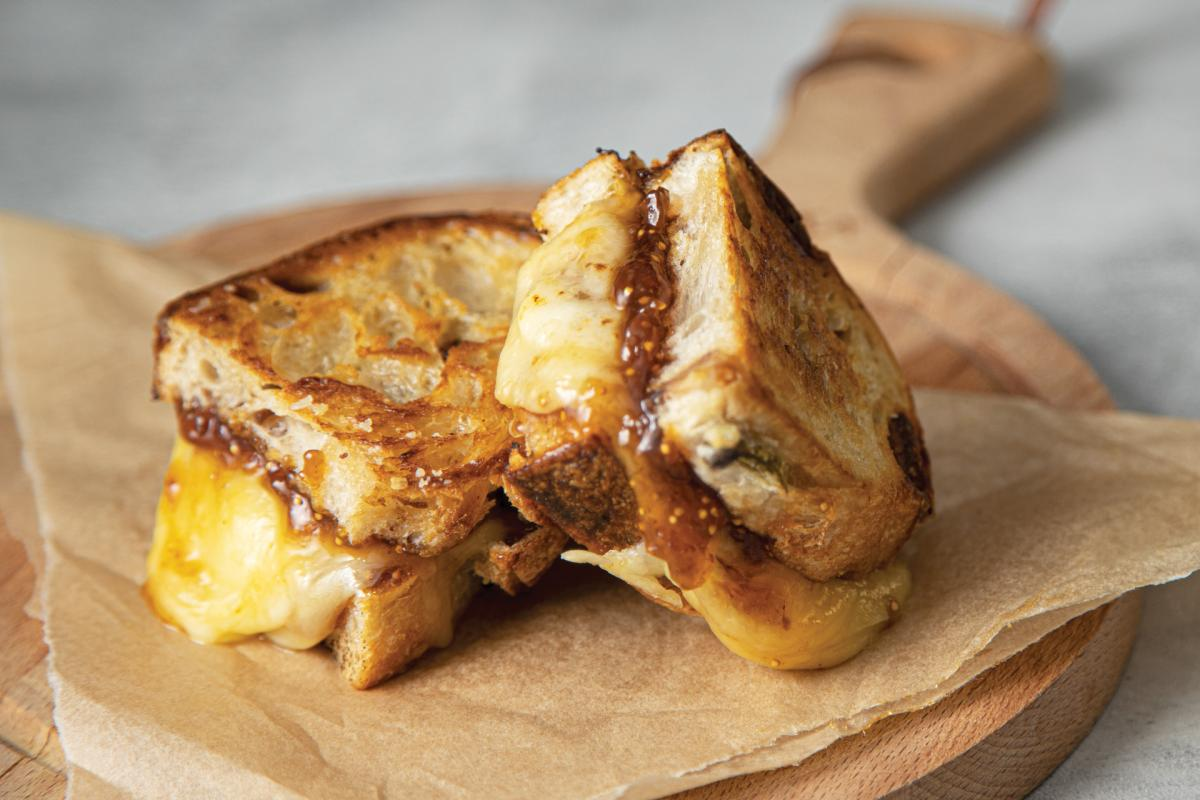 The Notorious F.I.G. Grilled Cheese sandwich
