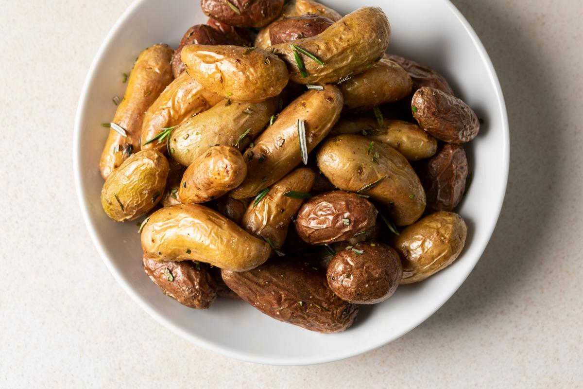 pan-roasted fingerling potatoes