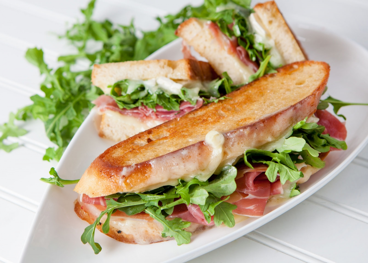 Triple Creme Prosciutto and Arugula Grilled Cheese