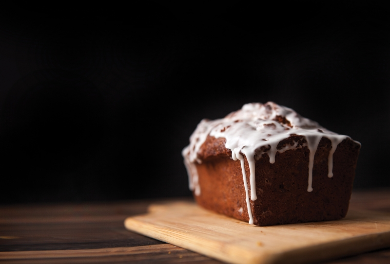 Pear Hazelnut Bread with Lemon Glaze