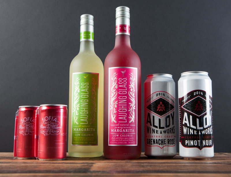 Canned Wines and premixed Margaritas