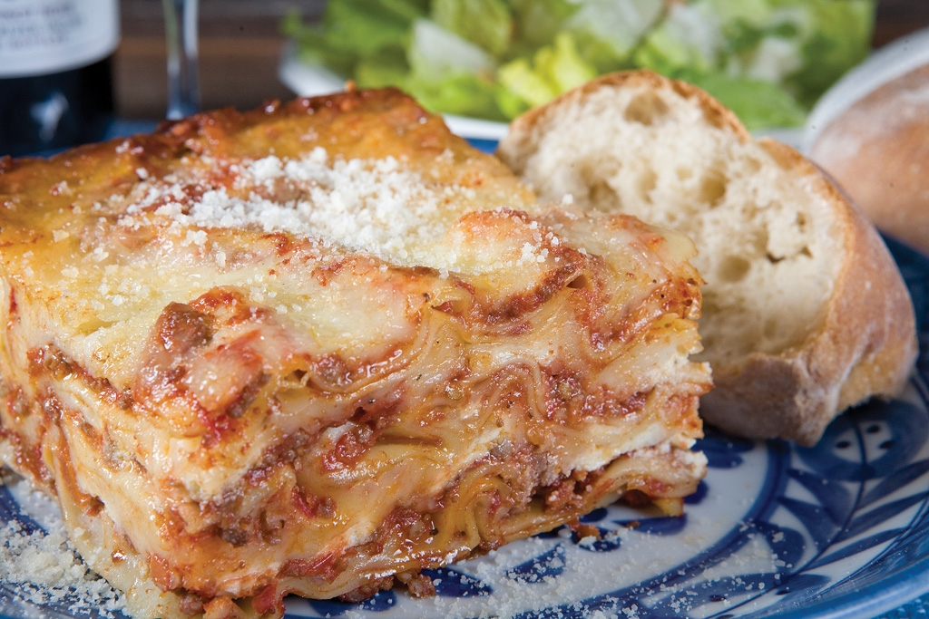 House–Made Lasagna with a meaty Bolognese sauce